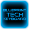 Blue Tech Keyboard Skin