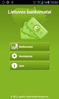Screenshot of Lietuvos bankomatai