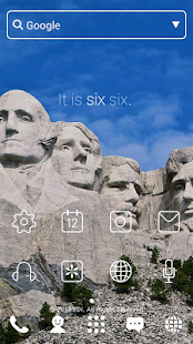 Mount Rushmore dodol theme - screenshot