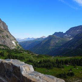 Mountains of Glacier National Park by Dawn Schriebl Hartley - Landscapes Mountains & Hills (  )