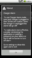 Screenshot of Charger Alarm
