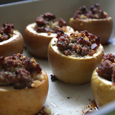 Baked Apples with Savory Stuffing