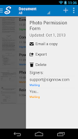 Screenshot of CudaSign (formerly SignNow)