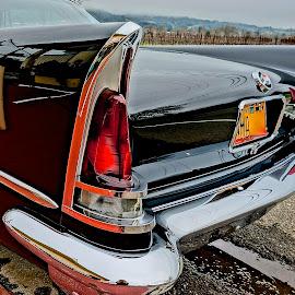 1959 Chrysler by Barbara Brock - Transportation Automobiles ( chrysler, classic car, black car, fish tail lights, antique car )