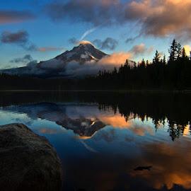 Trillium Lake by John Merrell - Landscapes Sunsets & Sunrises