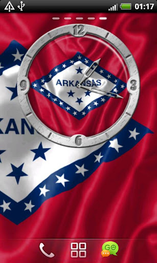 USA Arkansas clock flag