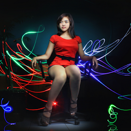 by Ridho Agustian - Abstract Light Painting (  )