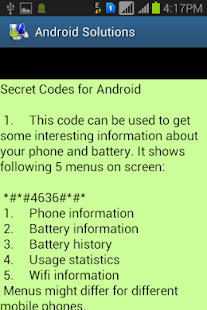 Solutions 4 Android - screenshot