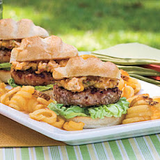 Pecan-Crusted Pork Burgers With Dried Apricot-Chipotle Mayonnaise