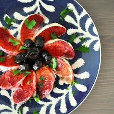 Blood Orange and Cured Black Olive Salad