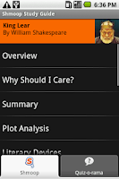 Screenshot of King Lear: Shmoop Guide