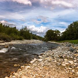 horsky ppotok by Ján Hrmo - Nature Up Close Water ( modre nebo, stromy, strk, voda )