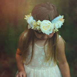 To Be Free by Daniela De Marco - Babies & Children Child Portraits ( portraiture, free, girl, nature, peace, adorable, cute, children photography, flower, hope )