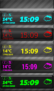 LED Digi Clock Weather Widget - screenshot