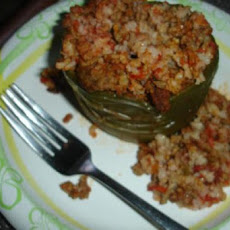 Crock Pot Spanish Stuffed Green Bell Peppers