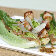 Caesar Salad with Young Romaine and Chili-Spiced Croutons