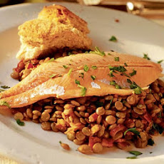 Hot Lentils, Cold Trout
