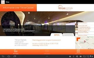 Screenshot of Tilroe Optiek app