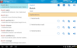 Screenshot of Dutch English Dictionary