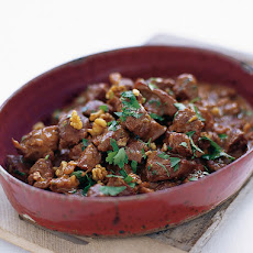 Spiced Lamb Stew With Walnuts & Pomegranate