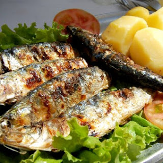Grilled Sardines, Charred Lemon & Chiles