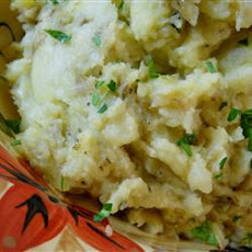 Yukon Gold Mashed Potatoes with Roasted Shallots