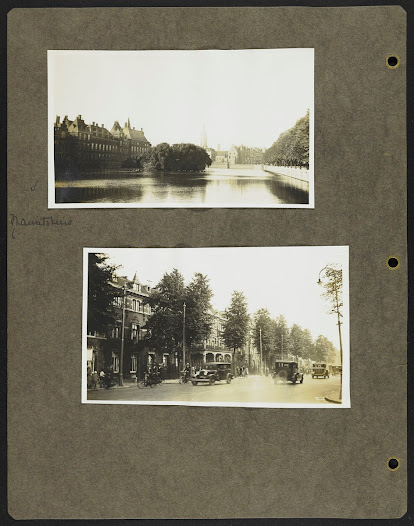 Miss Frick photographed the Hofvijver, a body of water which borders one side of the Mauritshuis (it would sit to the left of the buildings in the top photograph), as well as other sights in The Hague before leaving on September 17th for stops in Haarlem, Amsterdam, Utrecht, and Middelburg.
