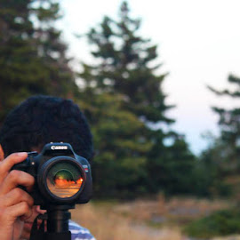 Life and Lens by Marcus Bennett - Novices Only Portraits & People ( camera, woods, people, lens, man )