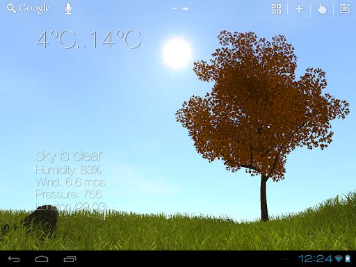 Nature Live Weather 3D LWP - screenshot