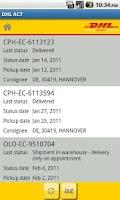 Screenshot of DHL ACTIVETRACING