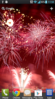 Screenshot of New Year Free Fireworks LWP