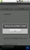 Screenshot of SMS Backup Scheduler & Restore