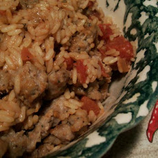 Fiery Chipotle Rice and Sausage