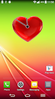 Screenshot of Love Heart Analog Clock Widget