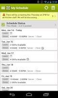 Screenshot of HotSchedules