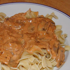 Mushrooms Paprikash With Egg Noodles