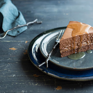 Chocolate, Pear And Rum Mousse Cake