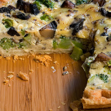 Broccoli, Mushroom, and Gouda Quiche Recipe
