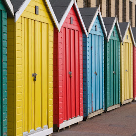 Beach Huts by Martin Wildman - Buildings & Architecture Other Exteriors ( colourful, sea side, 2015, beach huts, pixoto, colorful, mood factory, vibrant, happiness, January, moods, emotions, inspiration,  )