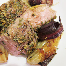Fennel-Roasted Pork Tenderloin with Sweet Onions