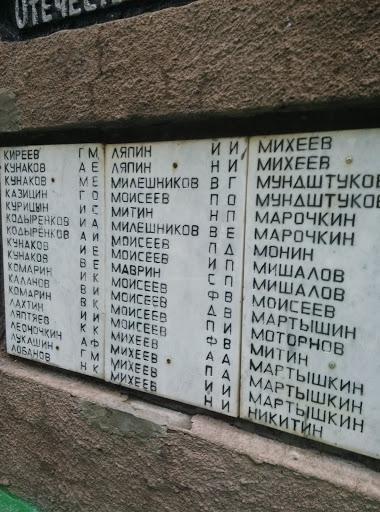 погибшие в ВОВ 1941-1945гг.