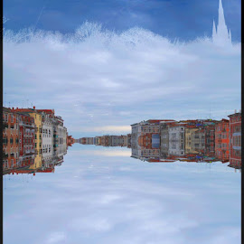 Skycity by Andrei Stan - Digital Art Abstract ( abstract, clouds, white, city )