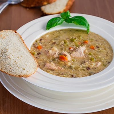 Crockpot Wild Rice, Quinoa and Chicken Soup