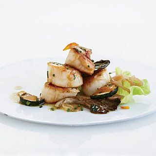 Warm Scallop Salad with Mushrooms and Zucchini
