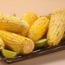 Roasted Corn on the Cob with Cilantro Lime Butter