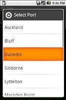 Screenshot of NZ Tides