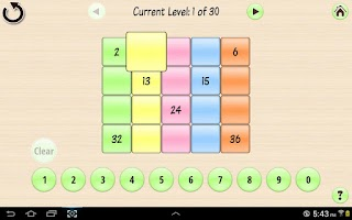 Screenshot of Base 10 Number Grid 4kids LITE