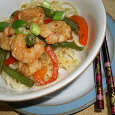 Stir-Fried Shrimp With Lemon Sauce & Scallion Noodles