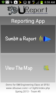 U-Report Reporting App - screenshot