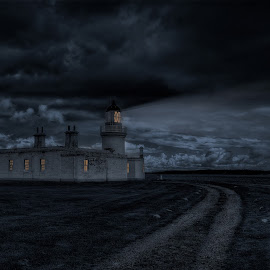 Chanonry Lighthouse... by Graham Markham - Buildings & Architecture Other Exteriors ( clouds, chanonry point, bracketed, scottish highlands, photomatix, hdr, dark, night, lightroom, photoshop )